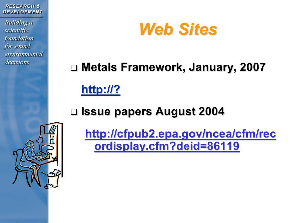 Metals Framework, January, 2007 Metals Framework, January, 2007http://.