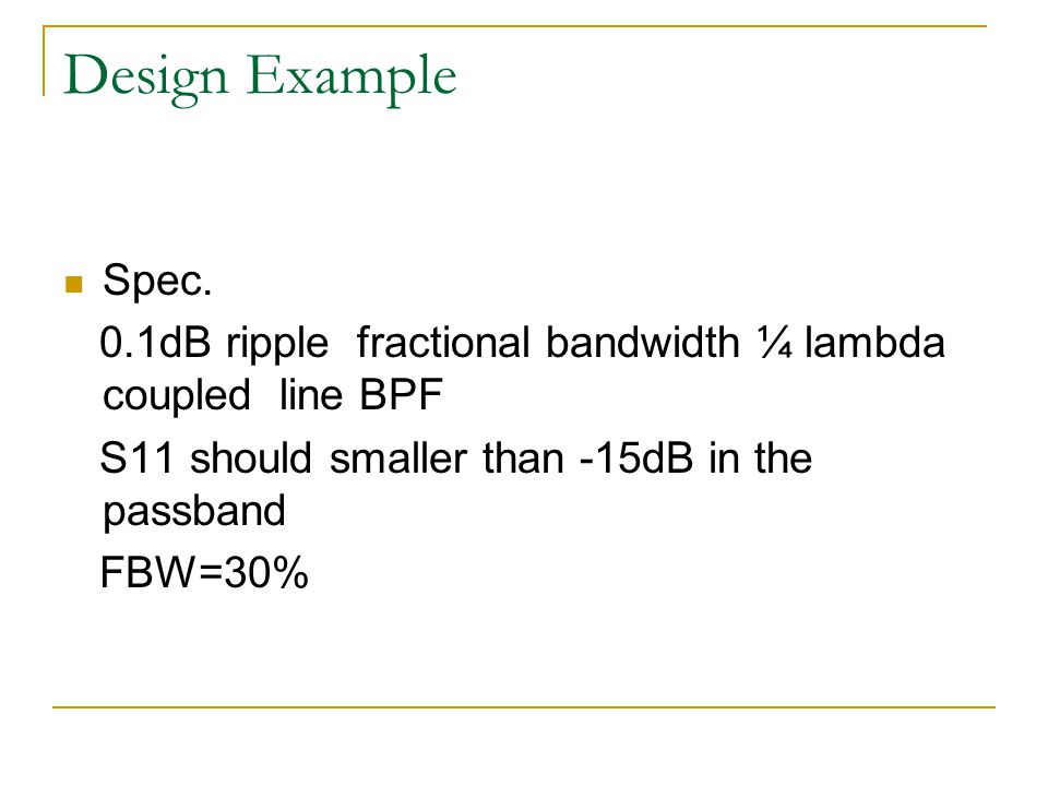 Design Example Spec.