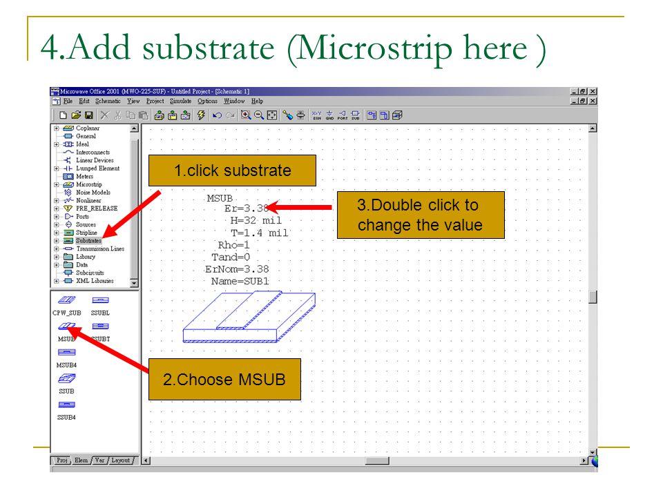 Add measurement cont d Choose measurement type Choose the circuit use dB scale