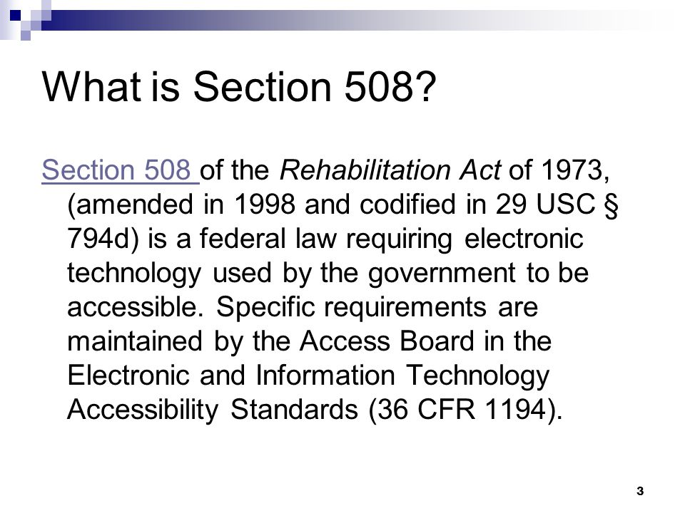 3 What is Section 508.