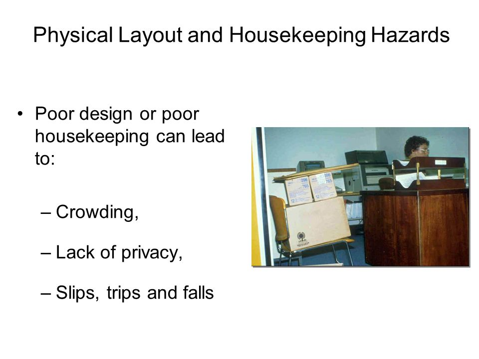 Office Furniture Hazard Controls Chairs –Do not climb on any office chair; use a ladder or stool.
