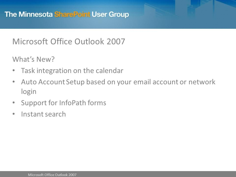 Microsoft Office Outlook 2007 Whats New.