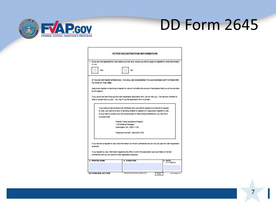 7 DD Form 2645