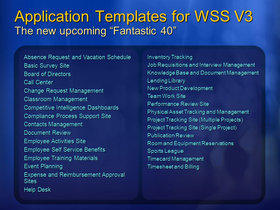 Building a SharePoint Application