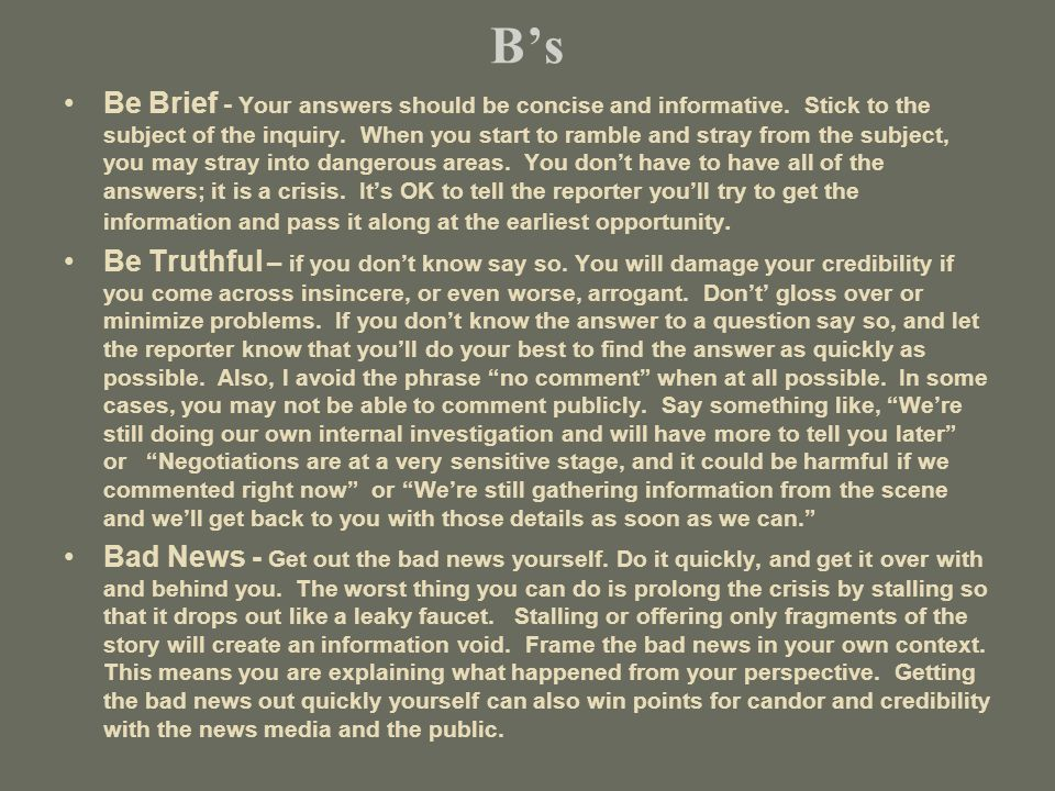 Bs Be Brief - Your answers should be concise and informative.