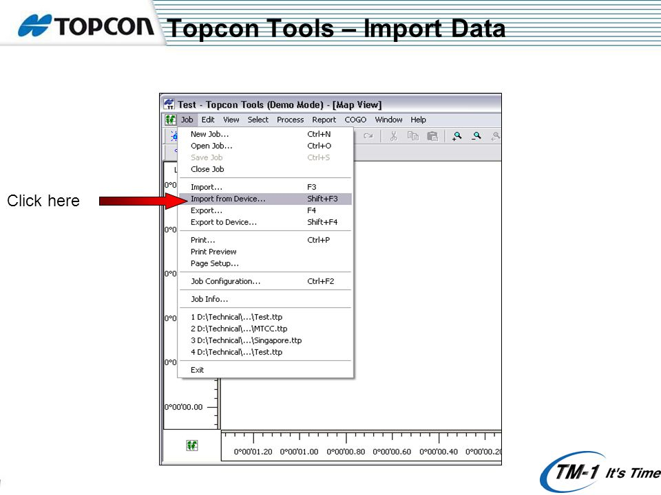 Topcon Tools – Import Data Click here