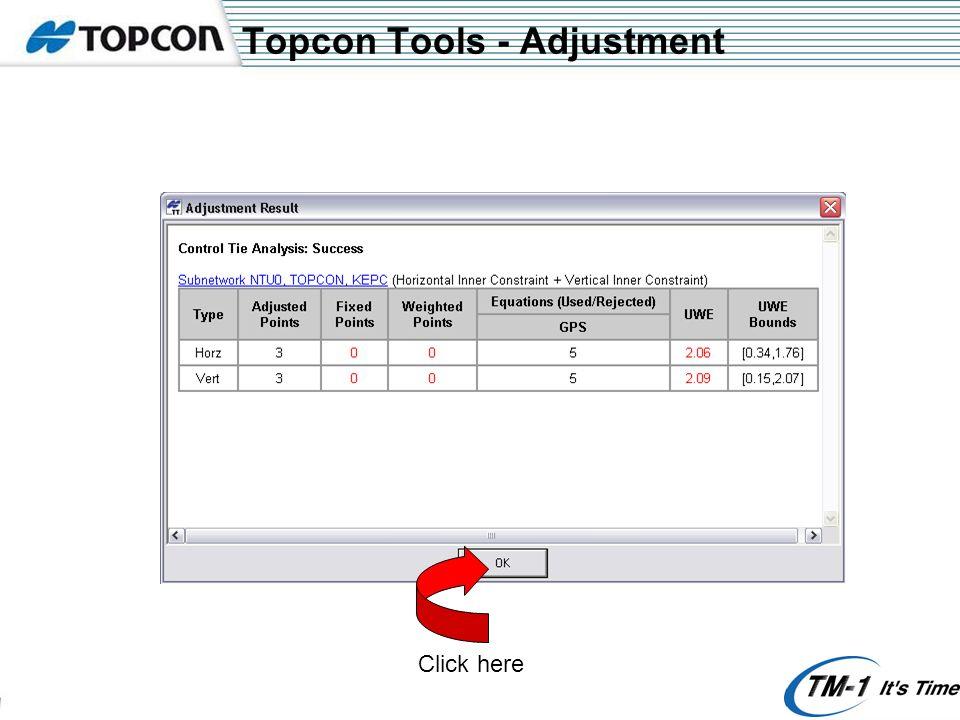Topcon Tools - Adjustment Click here