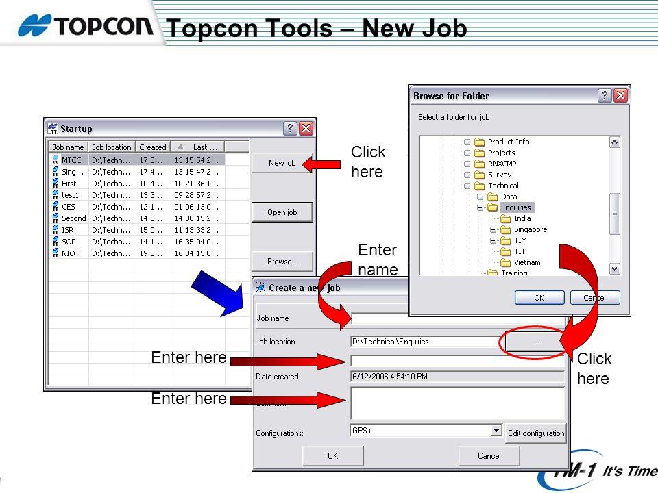 Topcon Tools - Options Click here