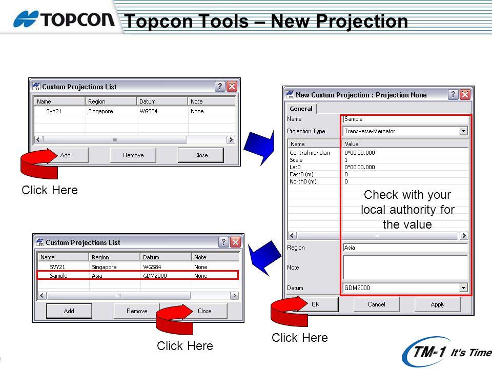 Topcon Tools – PostProcessing Click here