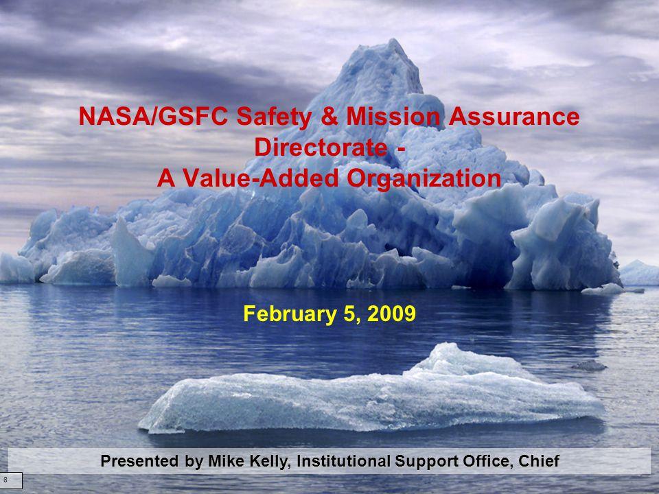 February 3, 200962 Code 321: Systems Safety Branch Name: Bo Lewis Title: Branch Head Office: Systems Safety Branch Tel: 301-286-7123 Email: bo.lewis@nasa.gov
