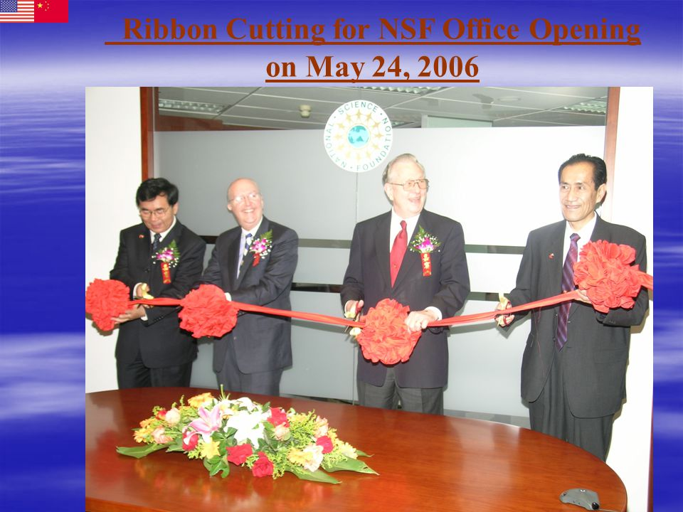 Ribbon Cutting for NSF Office Opening on May 24, 2006