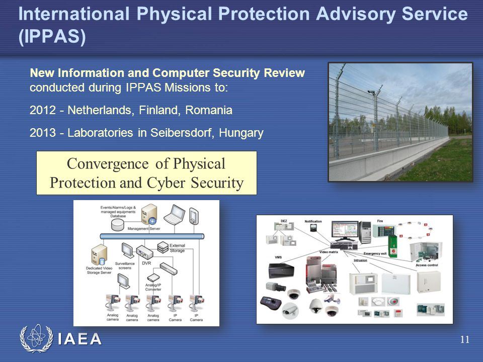 IAEA International Physical Protection Advisory Service (IPPAS) New Information and Computer Security Review conducted during IPPAS Missions to: 2012