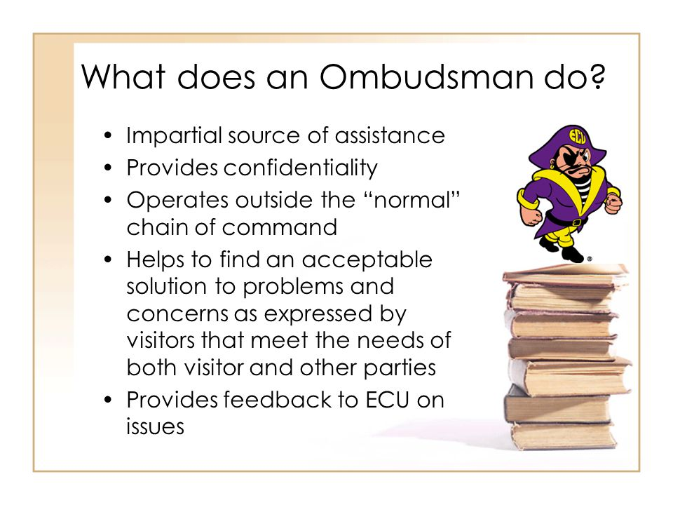 What does an Ombudsman do.