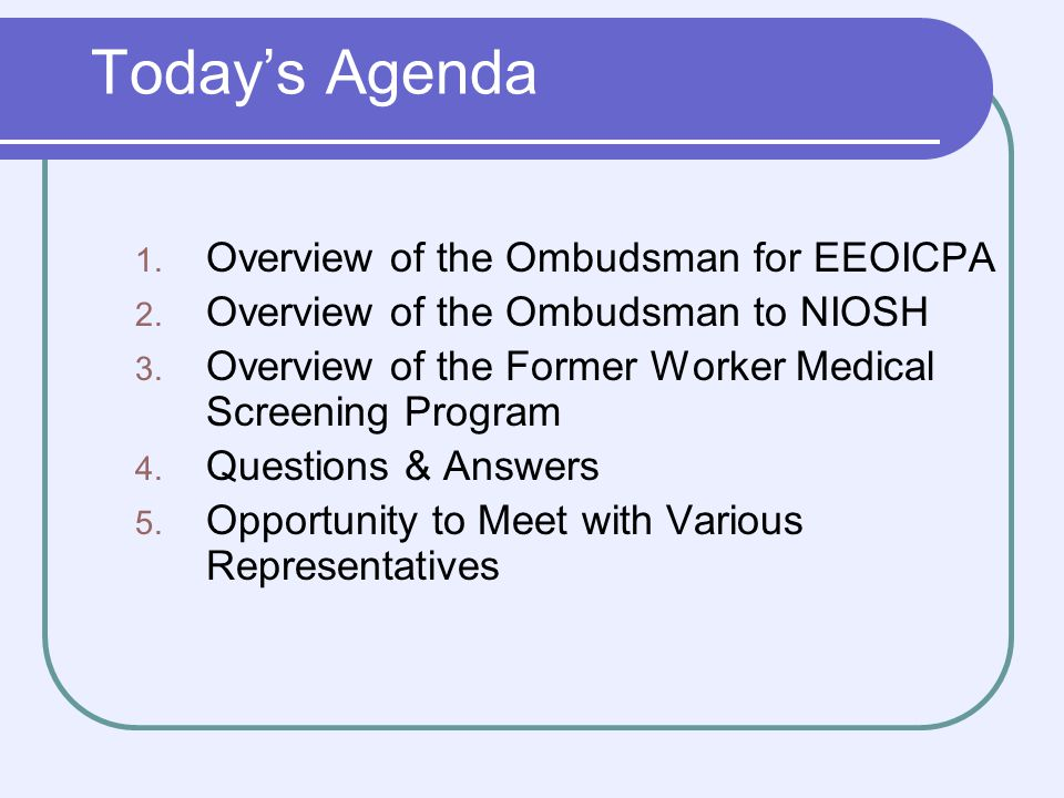 Advisory Board on Radiation Worker Health The Advisory Board on Radiation and Worker Health (also referred to as the Advisory Board or the Board) was established by the President on December 7, 2000.