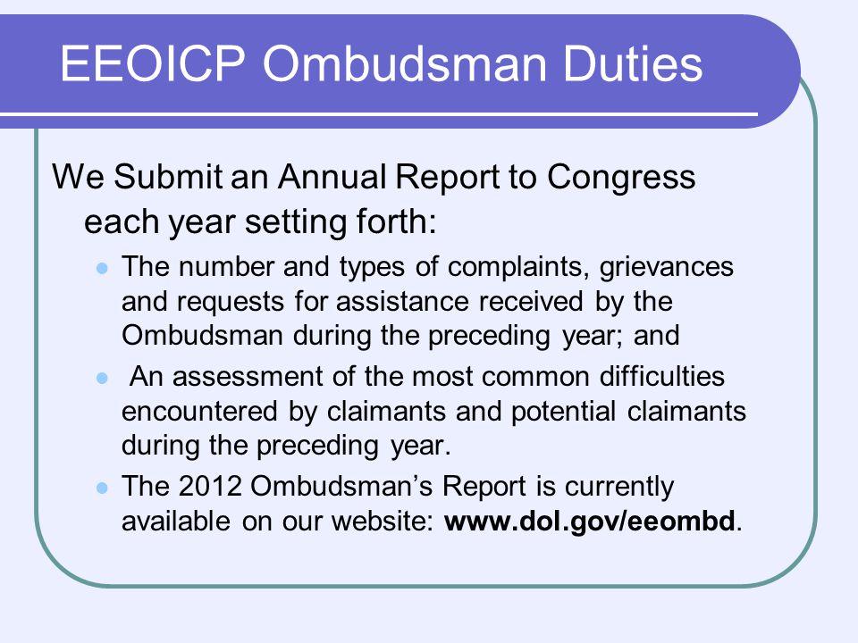 Ombudsman Contact Information Mail: U.S.