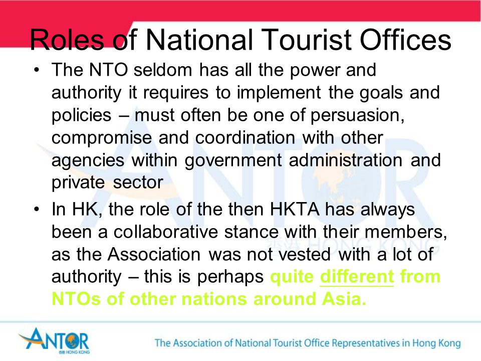 Other Types of Tourist Offices Provincial Tourist Office – e.g.