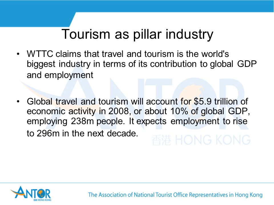 Tourism Growth According to the UNWTO, international tourist arrivals grew by 6% last year, to 900m