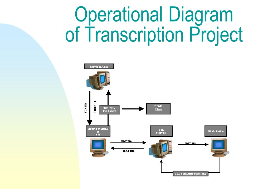 Operational Diagram of Transcription Project