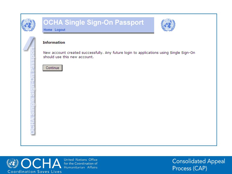 10Office for the Coordination of Humanitarian Affairs (OCHA) CAP (Consolidated Appeal Process) Section