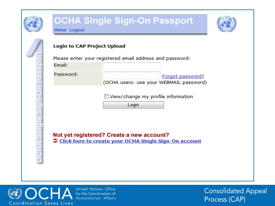 7Office for the Coordination of Humanitarian Affairs (OCHA) CAP (Consolidated Appeal Process) Section