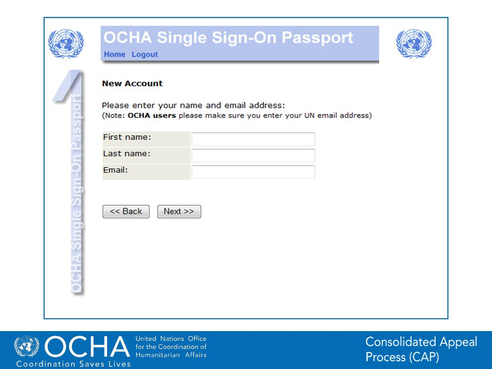 29Office for the Coordination of Humanitarian Affairs (OCHA) CAP (Consolidated Appeal Process) Section