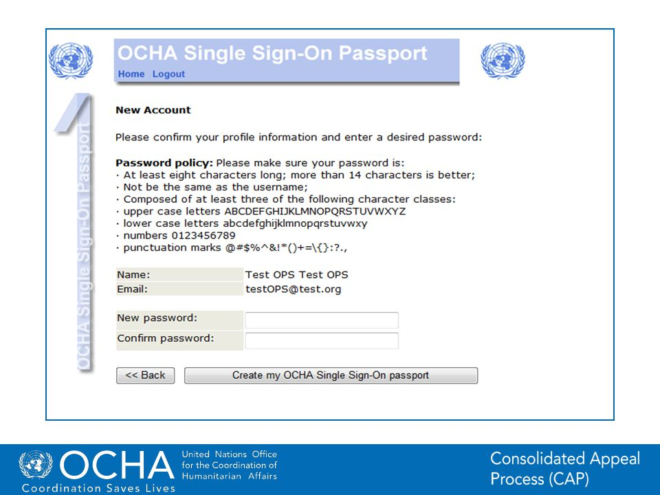 9Office for the Coordination of Humanitarian Affairs (OCHA) CAP (Consolidated Appeal Process) Section