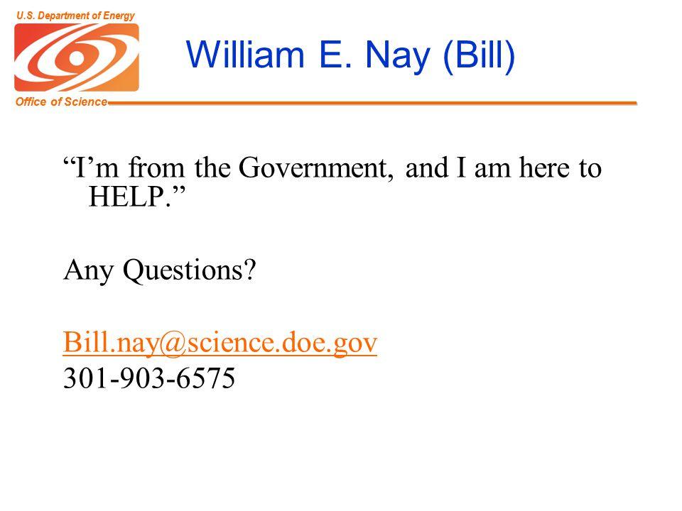 Office of Science U.S. Department of Energy Office of Science U.S.