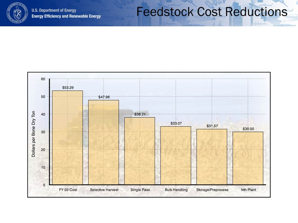 Feedstock Cost Reductions