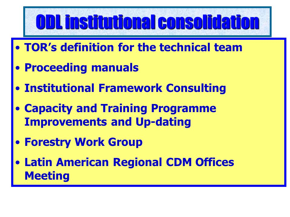 Legal framework analysis Consistence Analysis of the Carbon Law Proposal First Technical Consultation (National Workshop) Revisions and suggestions Legal consultants selection for public consultation