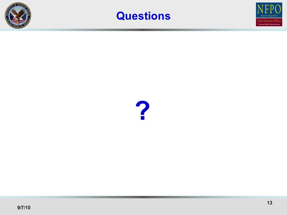 Questions 13 9/7/10