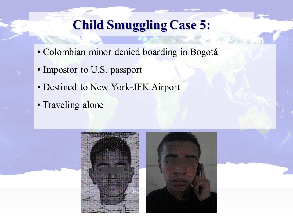 Child Smuggling Case 6: Offloaded Salvadorian national attempting to travel to U.S.