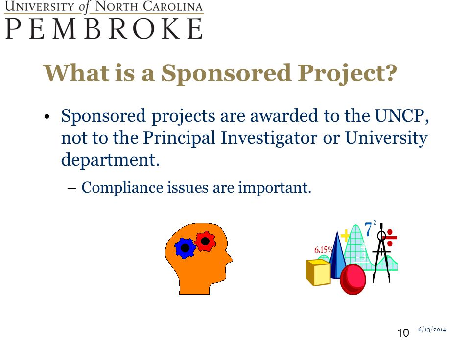 What is a Sponsored Project.