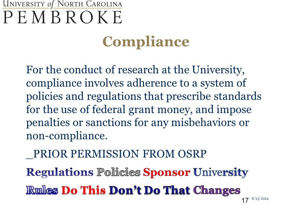 Compliance 6/13/2014 17