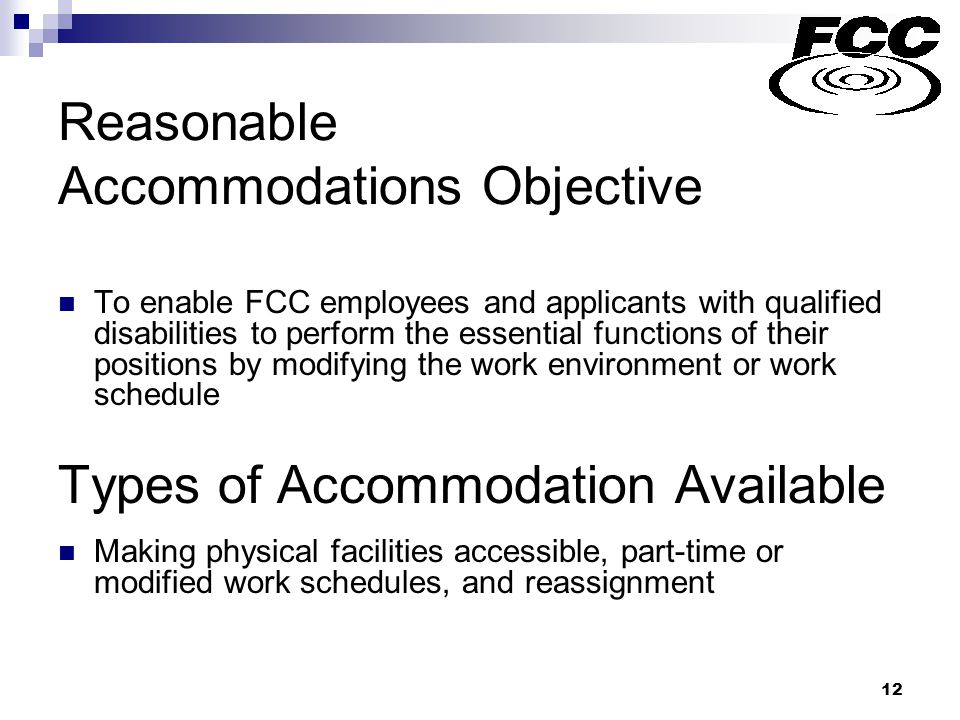 13 Reasonable accommodation requests processed: