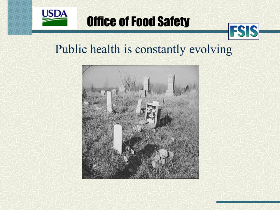 Office of Food Safety Public health is constantly evolving