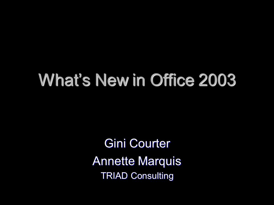 The Office 2003 Suite Word Word Excel Excel PowerPoint PowerPoint Outlook Outlook Access Access Publisher Publisher InfoPath – (corporate version only) InfoPath – (corporate version only) One Note One Note