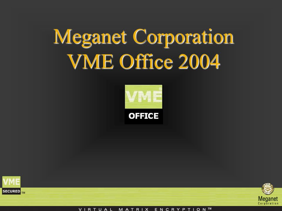 Meganet Corporation VME Office 2004
