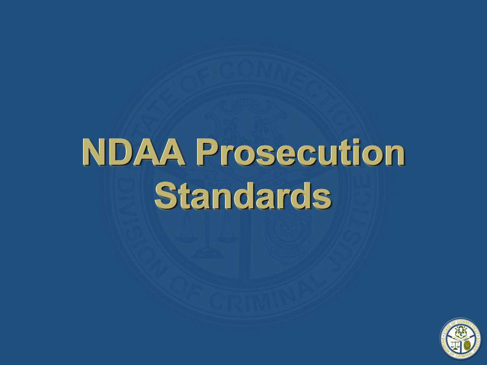 NDAA Prosecution Standards