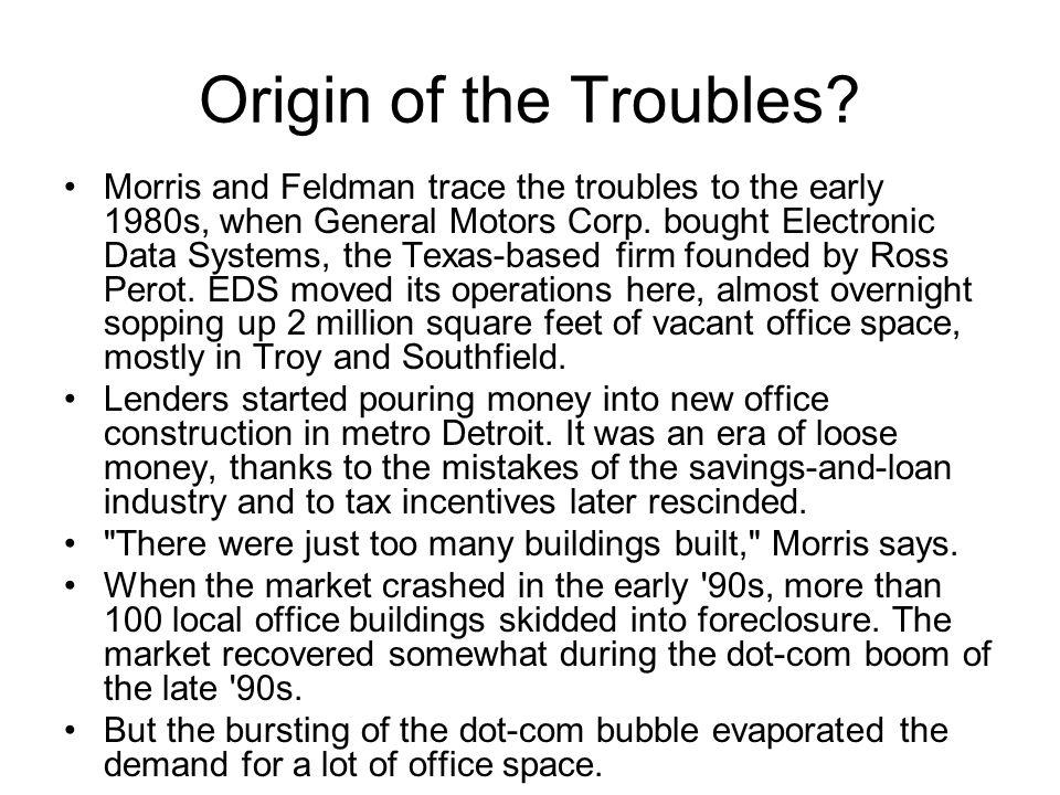 Origin of the Troubles.