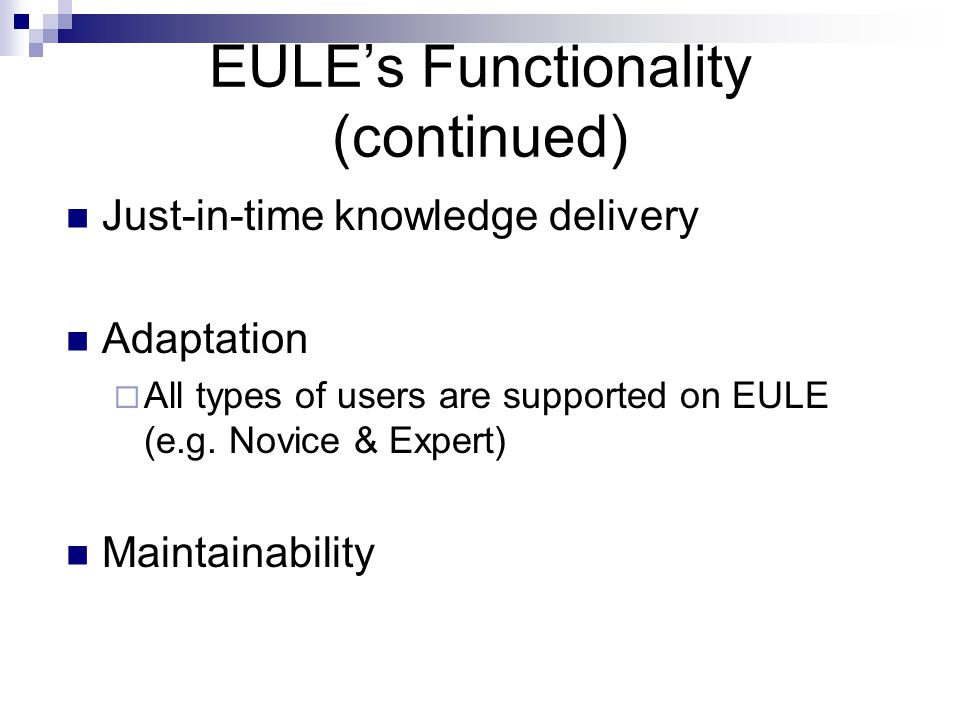 So how does EULE work ?