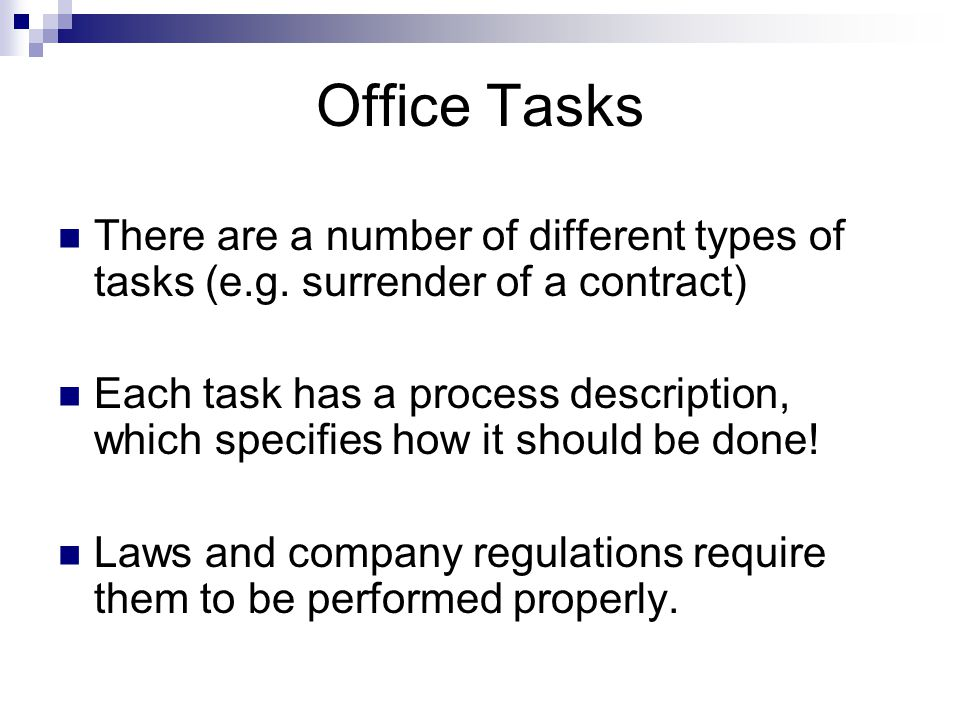 EULE: Work Process Each process associated with an office task is visualized as a graph.