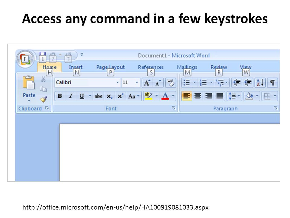 Access any command in a few keystrokes