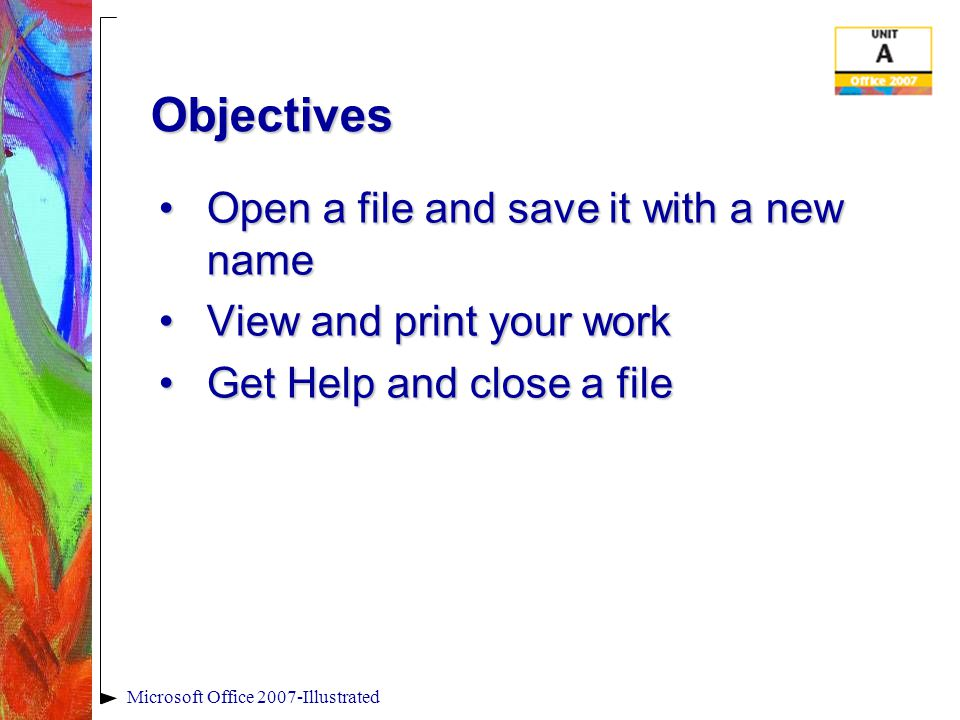 Microsoft Office 2007-Illustrated Viewing the Office 2007 User Interface PowerPoint program windowPowerPoint program window Quick Access toolbar Ribbon Dialog box launcher Zoom percentage Zoom slider Document window Tabs Title bar