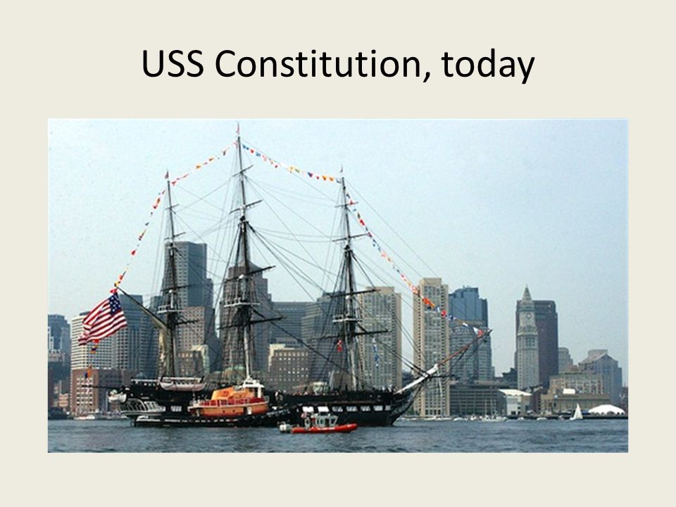 USS Constitution, today