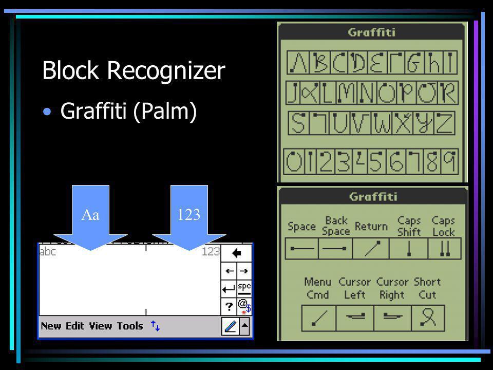 Block Recognizer Graffiti (Palm) Aa123