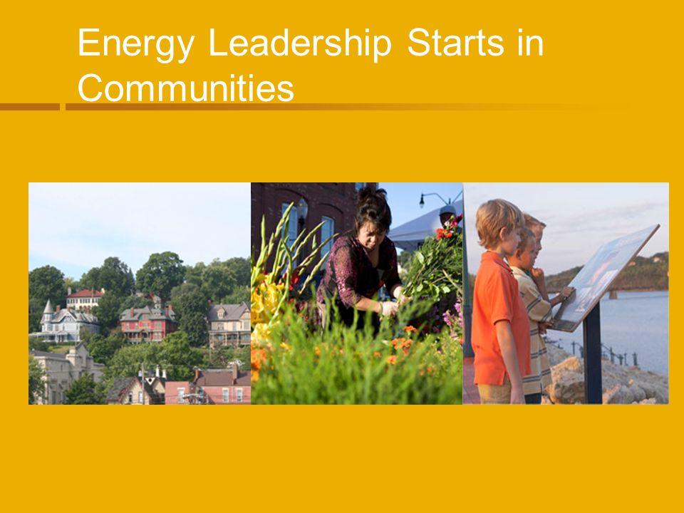 Energy Leadership Starts in Communities