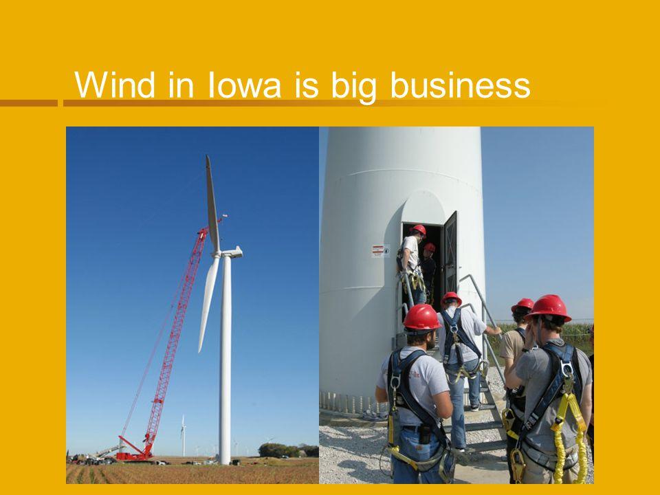 Wind in Iowa is big business