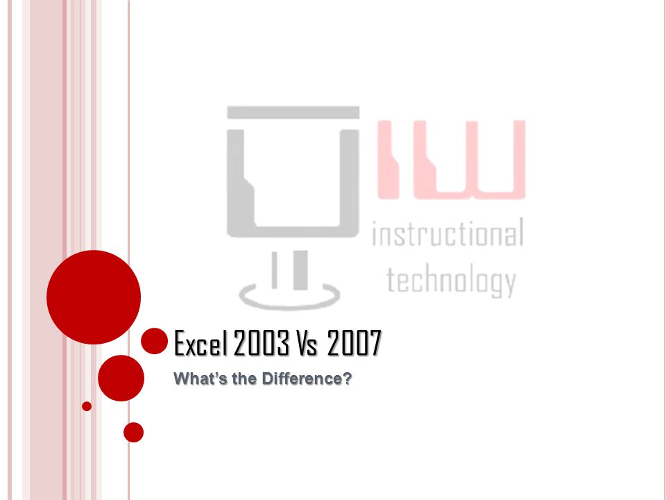 Excel 2003 Vs 2007 Whats the Difference?