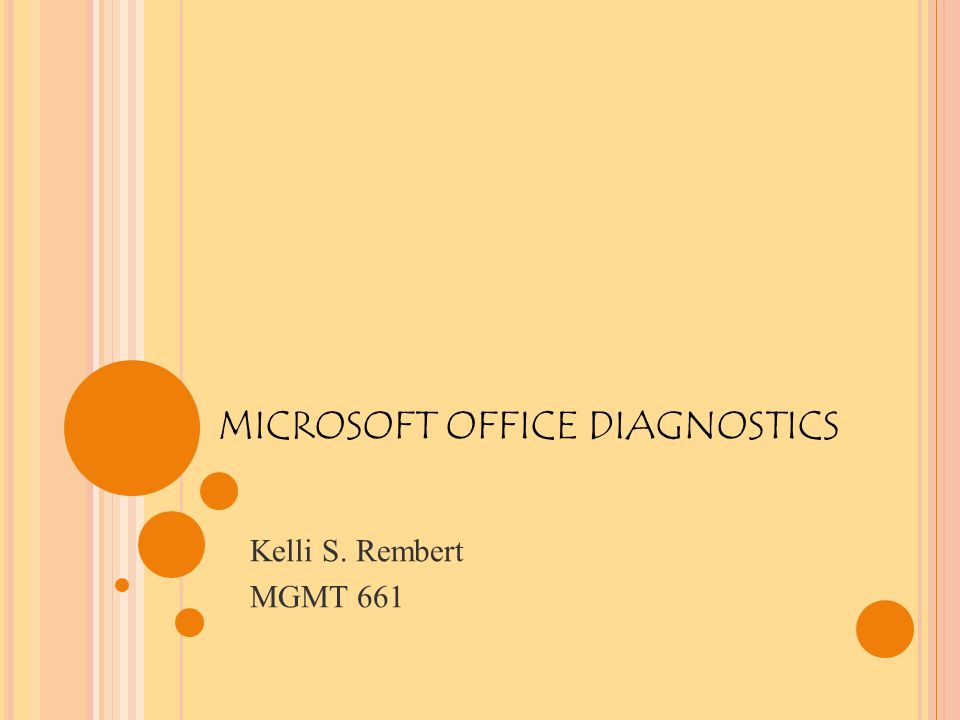 MICROSOFT DIAGNOSTICS TESTS Microsoft diagnostic tests are used to prevent your computer from crashing and to correct errors immediately.