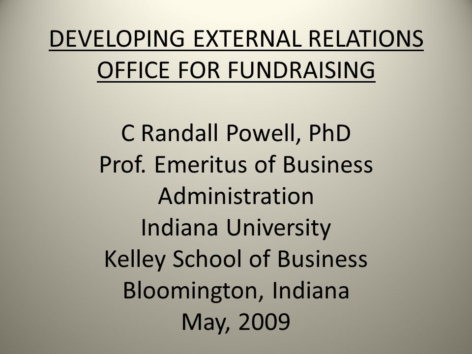 FUNDRAISING INITIATIVES Services to Alumni Services to Students Services to Faculty Services to Professional Communities Service to Local Community Result: Institutional Appreciation and Reputation Enhancement